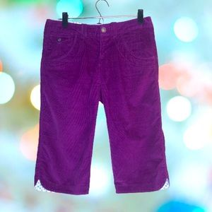 ATHLETA Corduroy Capri in plum